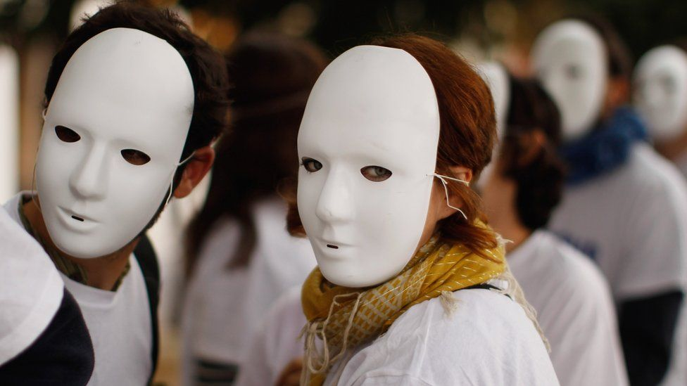 Demonstrators protesting ahead of the G20 Summit in Nice in November 2011