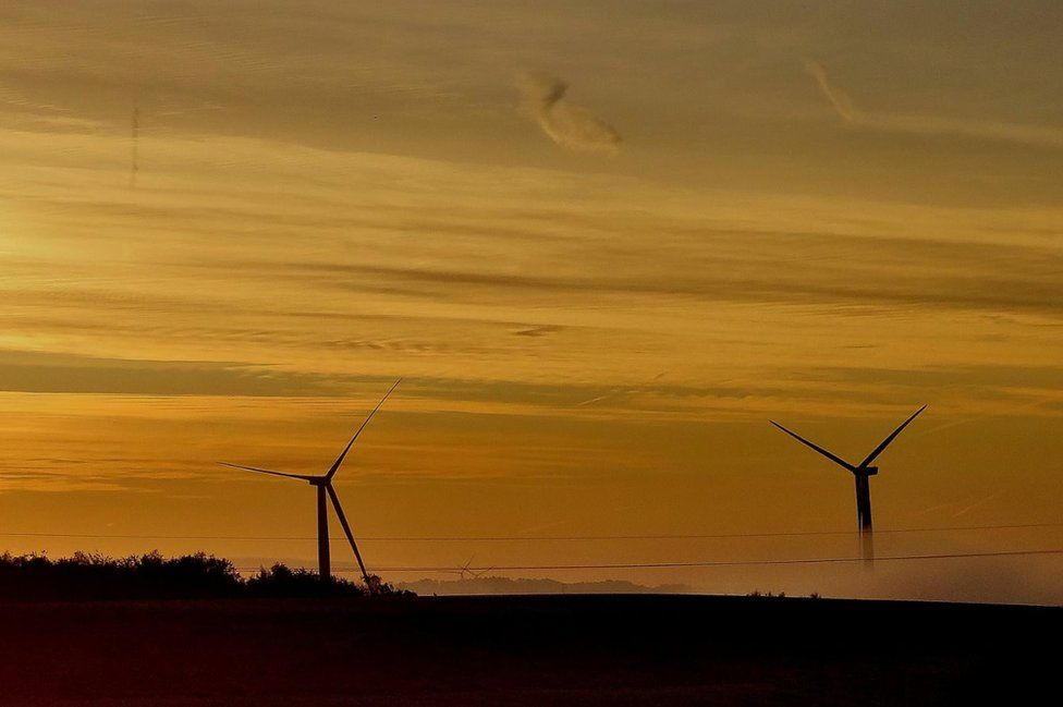 Wind turbines in Cudworth