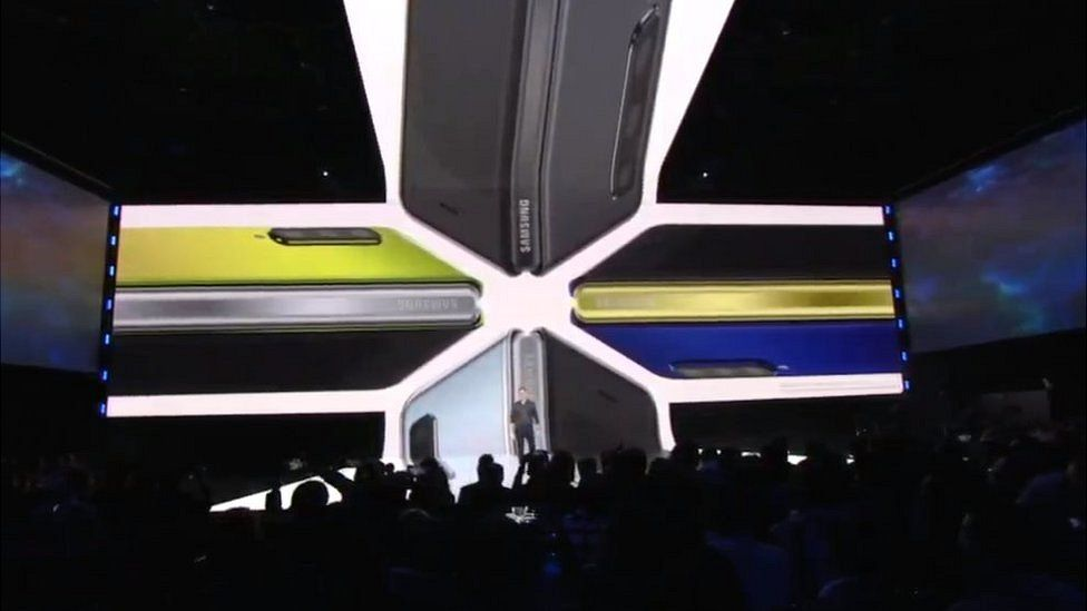 An image from the Samsung fold launch event