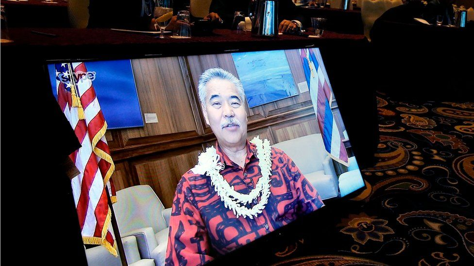 Hawaii Governor David Ige joins the National Clean Energy Summit 9.0 via Skype