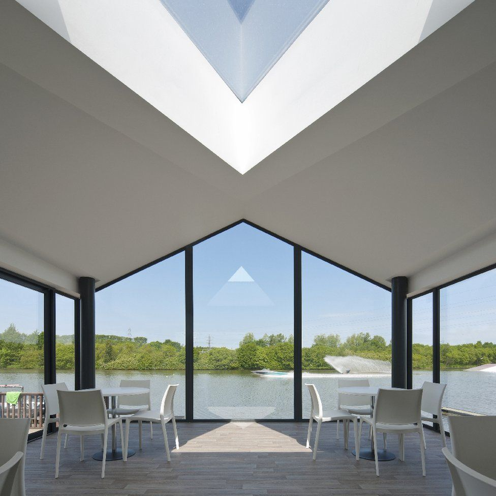 """Scottish National Waterski Centre, Dunfermline - """"This reworking of the original, multi-use, building at the loch-side waterski centre at Townhill Country Park is a bright and expansive space to match skiers"""""""