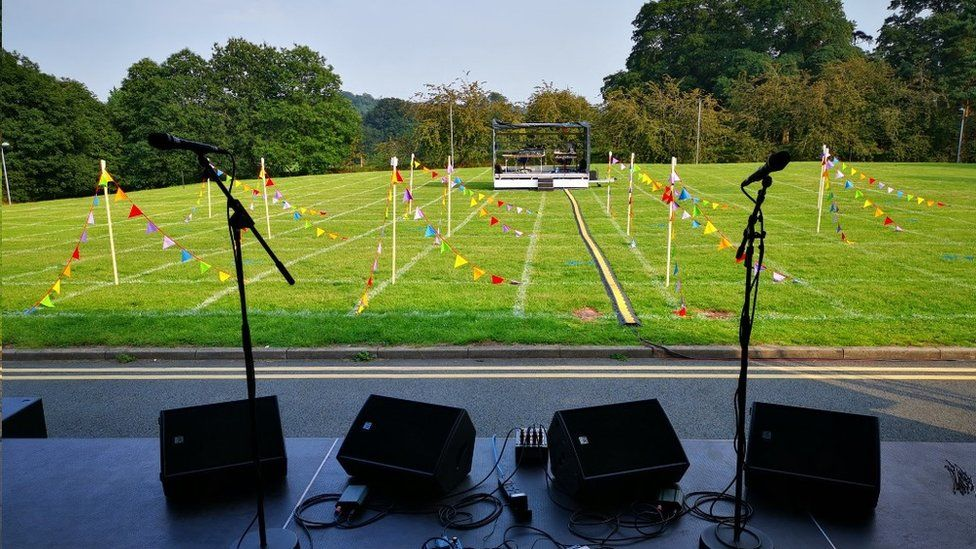 Theatr Clwyd outdoor stage