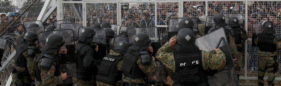 Idomeni border clash, 29 Feb 16