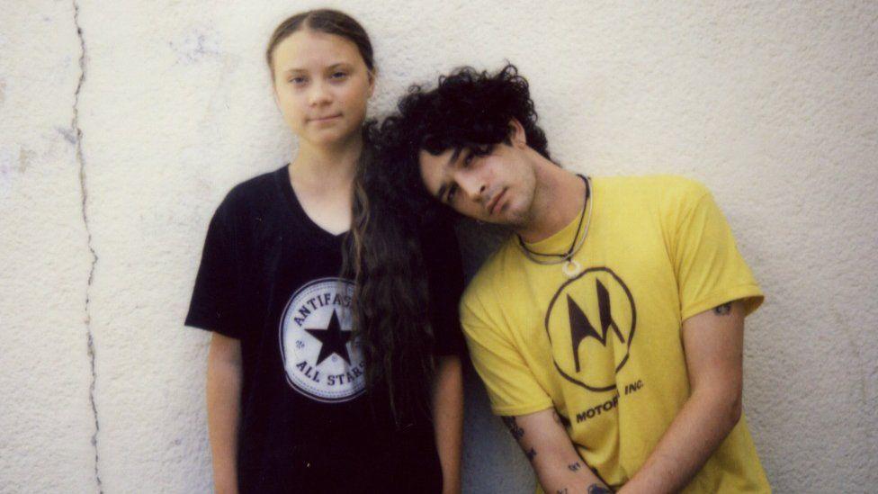 Greta Thunberg and Matt Healy
