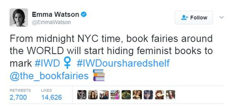 Emma Watson's tweet