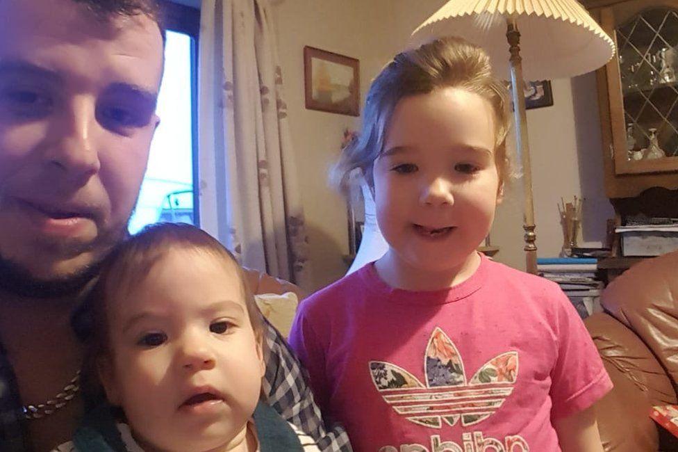 Ben McEwan with his two children