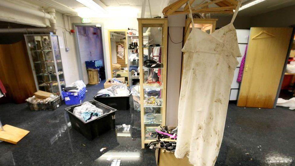 Stock damaged in the Boudoir boutique, Dungannon