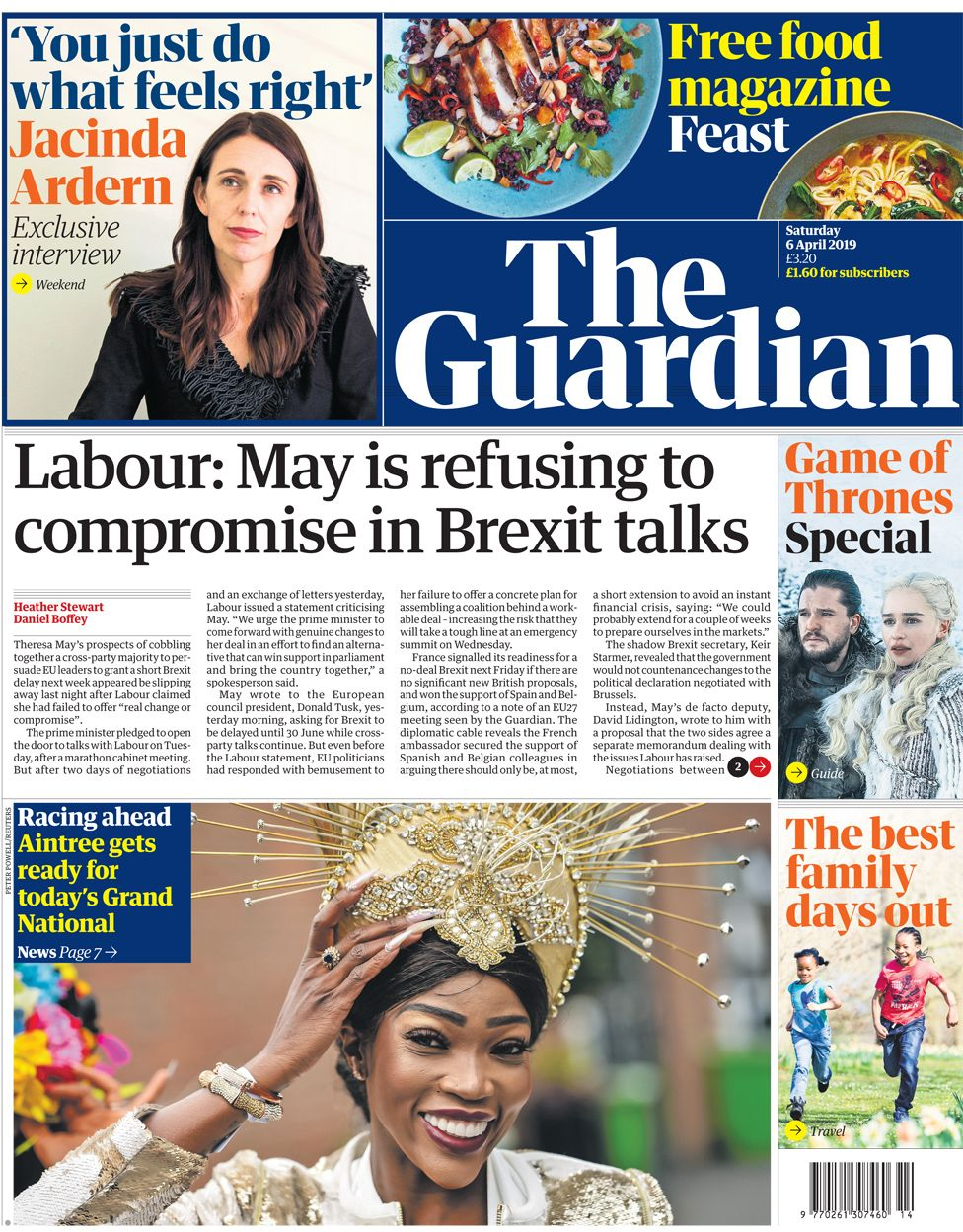 Guardian front page, 6/4/19