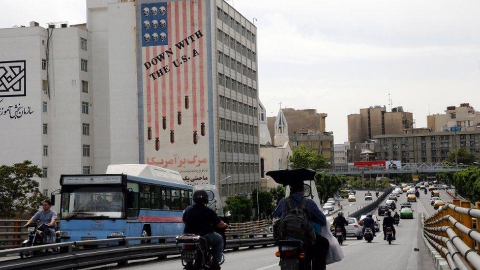 Anti-US mural in Tehran - 7 May