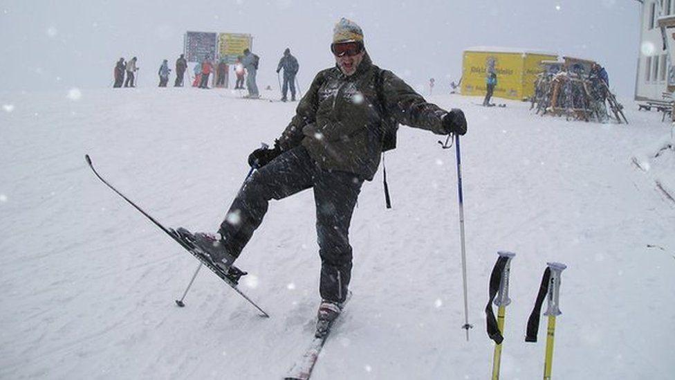 Noel Conway skiing
