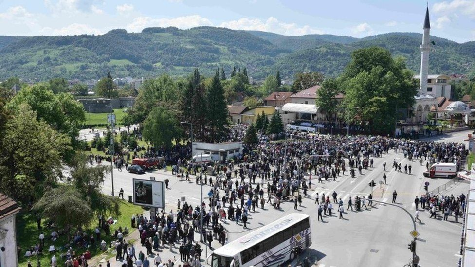 General view of Ferhat Pasha mosque during its opening ceremony in Banja Luka (07 May 2016)