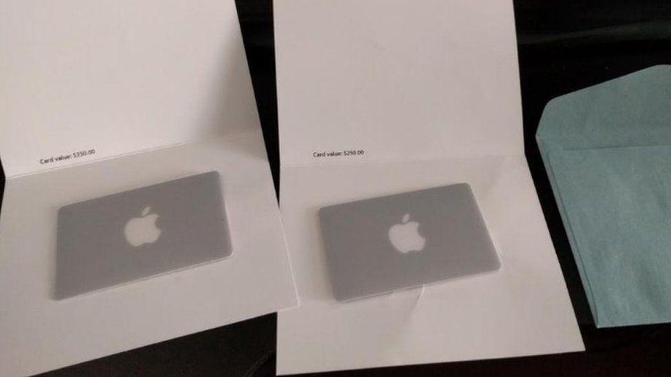 Apple gift vouchers