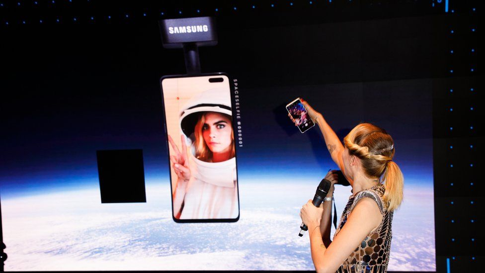Cara Delevigne's space selfie