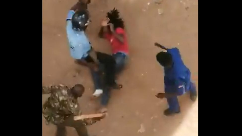 Police attack student