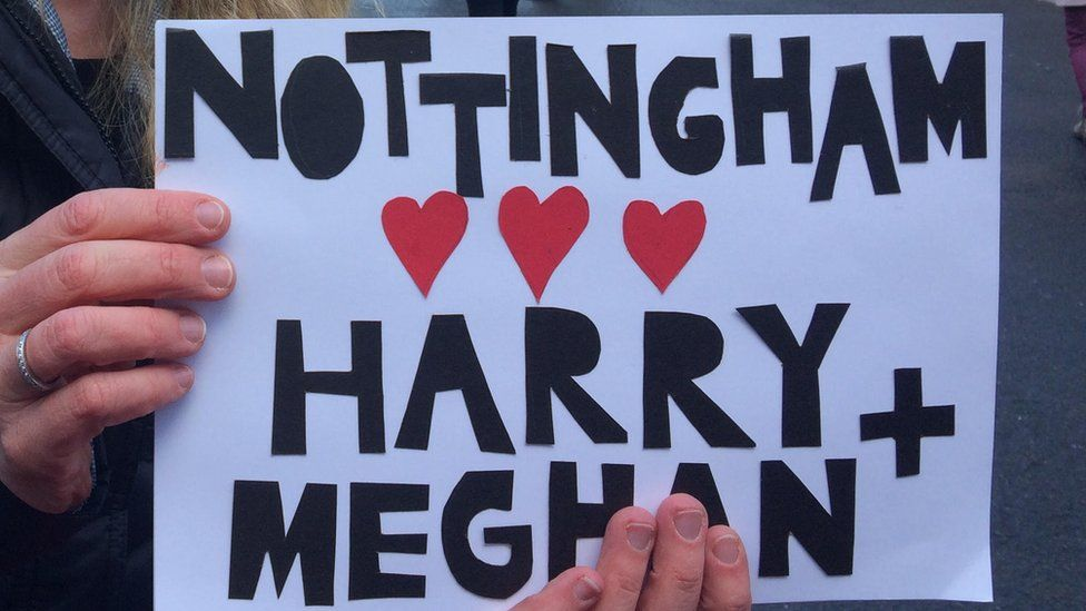 Placard for Harry and Meghan