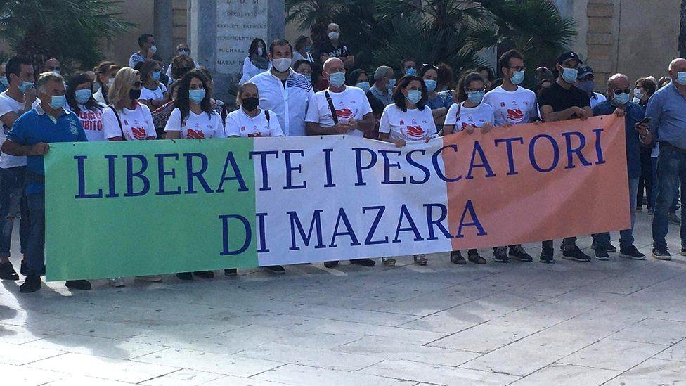Demonstration in Mazara