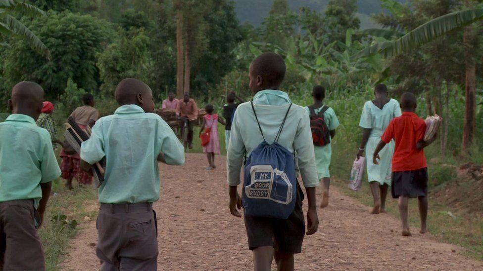 Primary school pupils in Ruhiira, Uganda