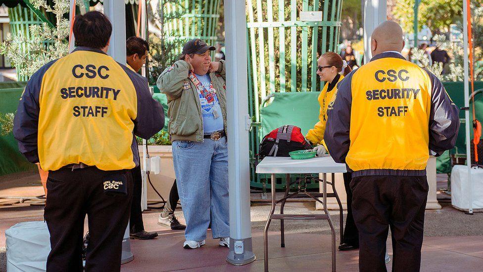 Security staff at Disneyland in California