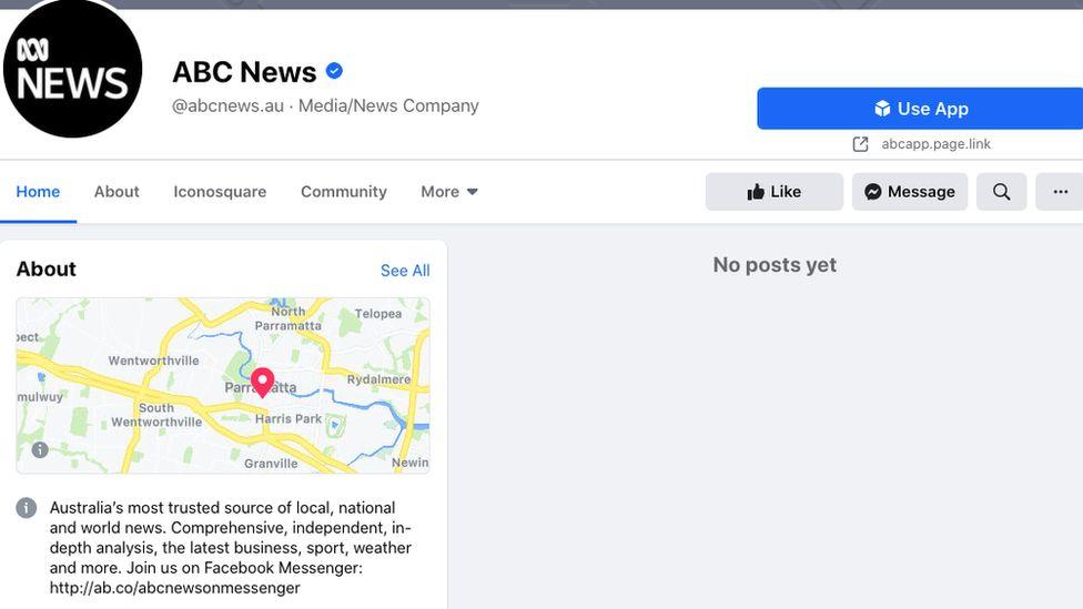 ABC News Australia Facebook page