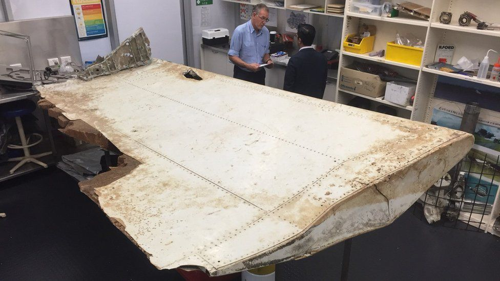 Airplane debris found off the coast of Tanzania found in June 2016