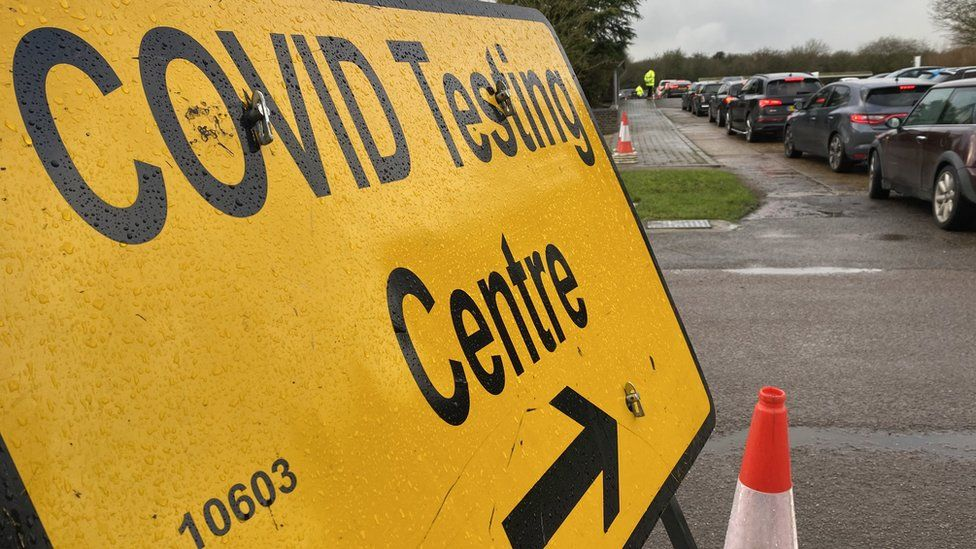 The covid testing centre at Wat Tyler Country Park