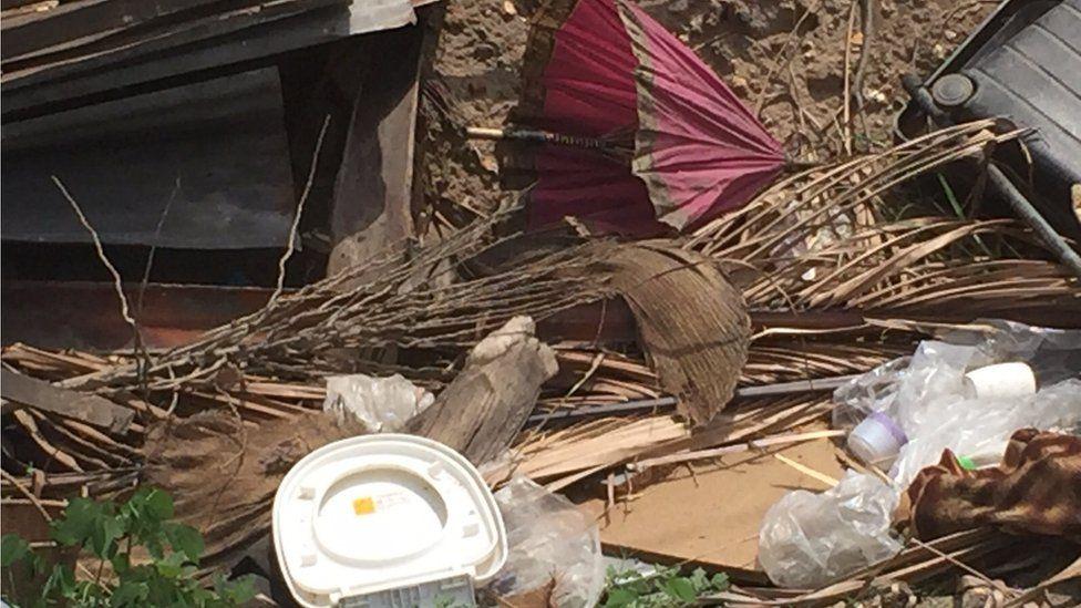 Items at a demolition site in Dar es Salaam, Tanzania
