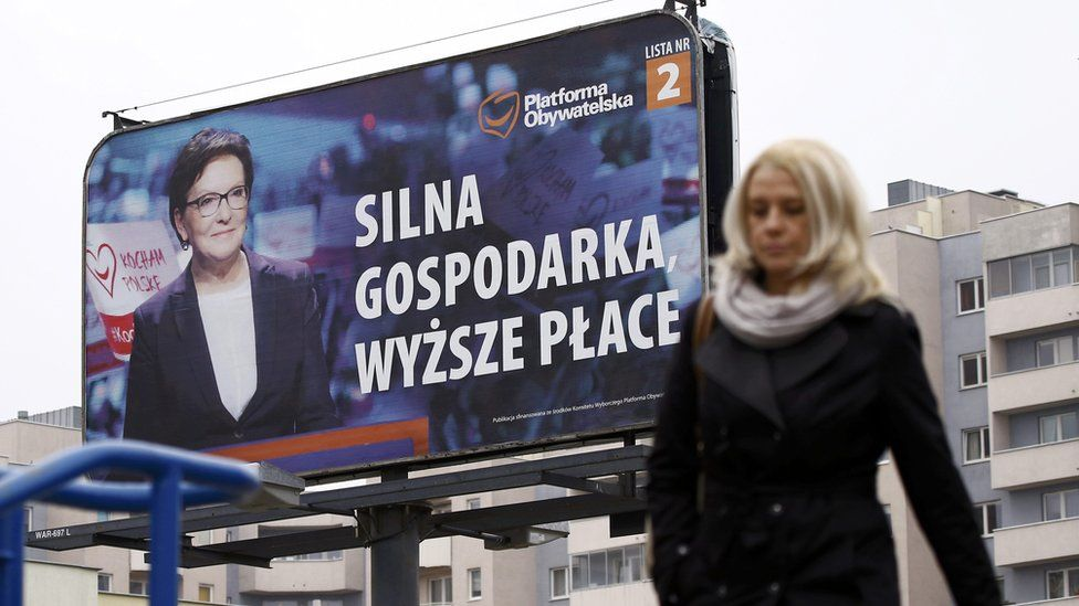Civic Platform election poster in Warsaw