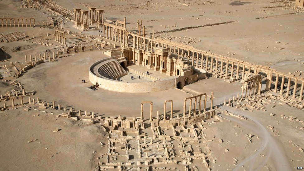 File picture taken in January 2009 shows a part of the ancient city of Palmyra