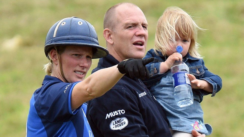 Zara Tindall and her husband Mike with oldest daughter, Mia