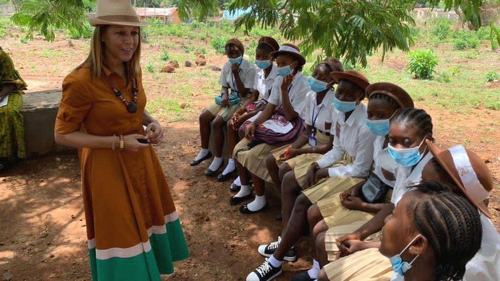 Helen Grant in Uganda