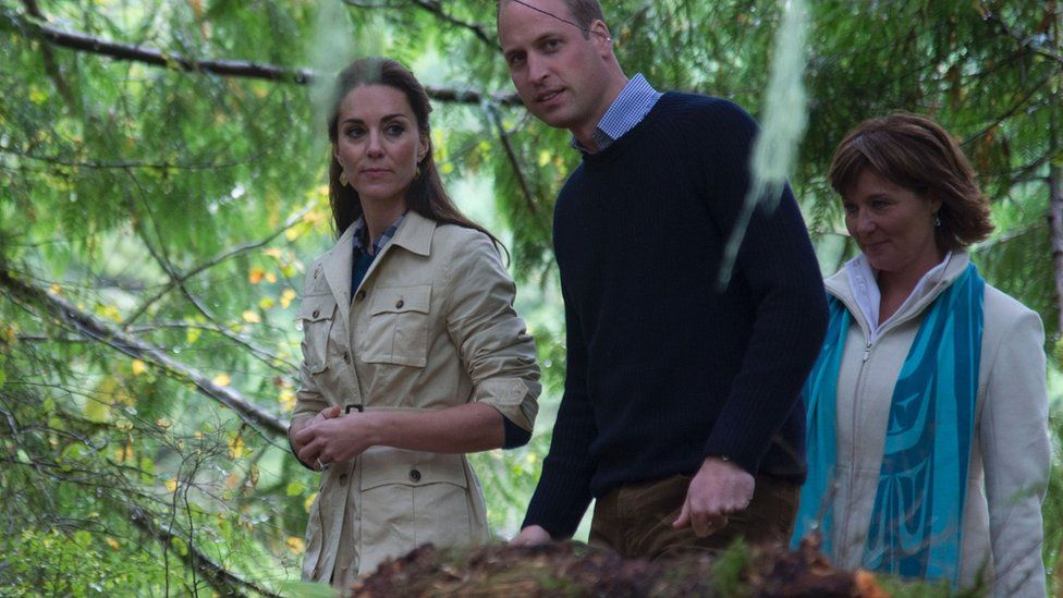 The Duke and Duchess of Cambridge in the Great Bear Rainforest