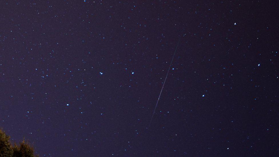 Perseid meteor shower in Glasgow