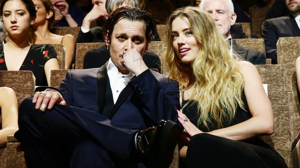 Johnny Depp and Amber Heard together in 2015