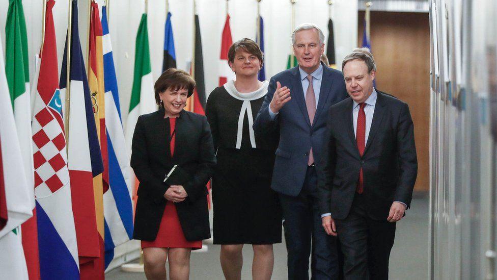 Michel Barnier with DUP delegation