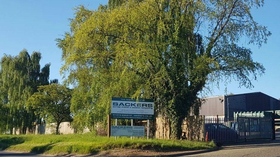 Sackers recycling plant in Suffolk