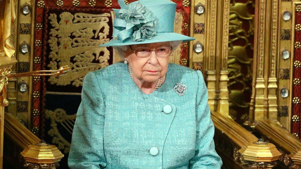 The Queen during the State Opening of Parliament in December 2019