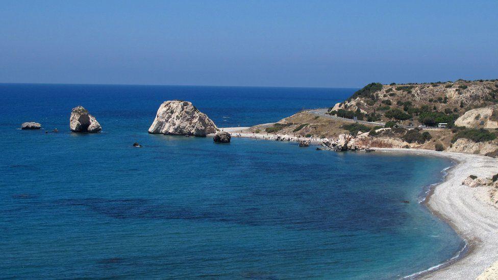 Aphrodite's Rock in Paphos, Cyprus