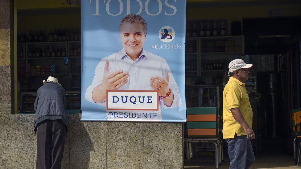 Poster showing Ivan Duque