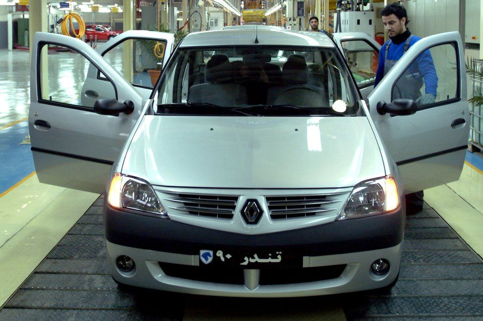 Renault Logan production in Iran, March 2007