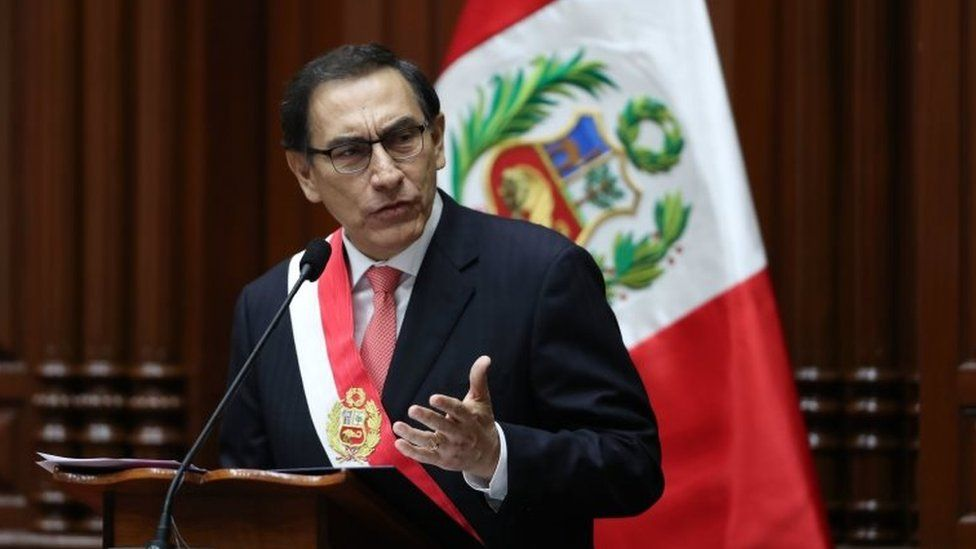 Martin Vizcarra, a civil engineer and businessman is sworn-in as new Peruvian president, in Lima, Peru, 23 March 2018.