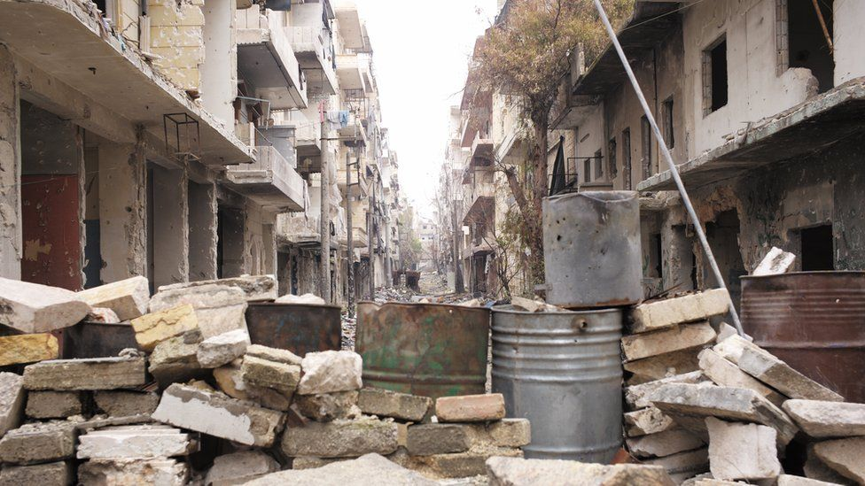 Abandoned district East Aleppo