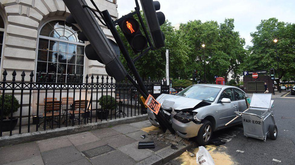 road crash scene