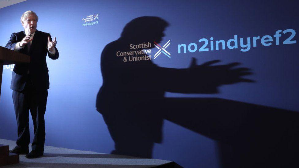 Boris Johnson at Scottish Tory manifesto launch