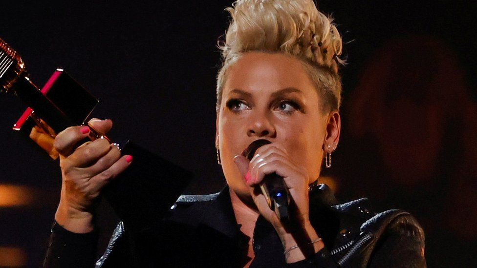 Pink accepted the Icon Award at the 2021 Billboard Music Awards in May