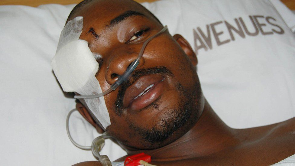 Nelson Chamisa in hospital in Harare, Zimbabwe - 2007