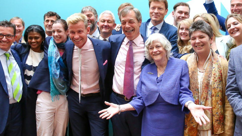 Brexit Party MEPs after the UK Europen Parliament elections