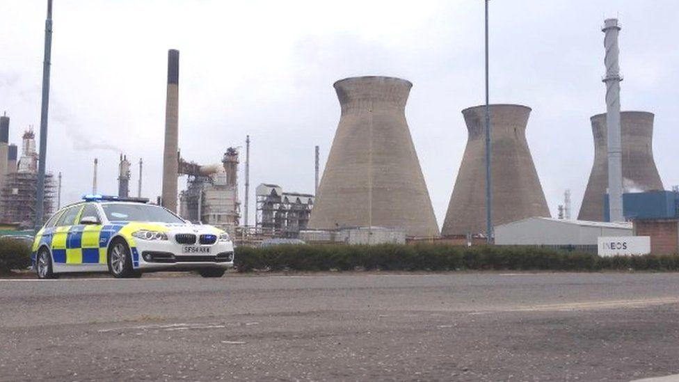 Police at Grangemouth