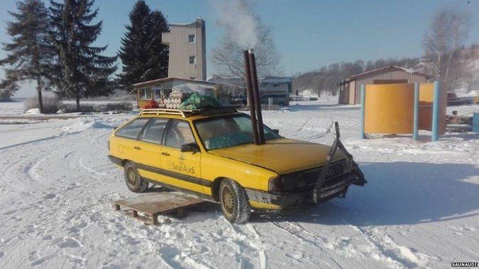 Car turned into a sauna
