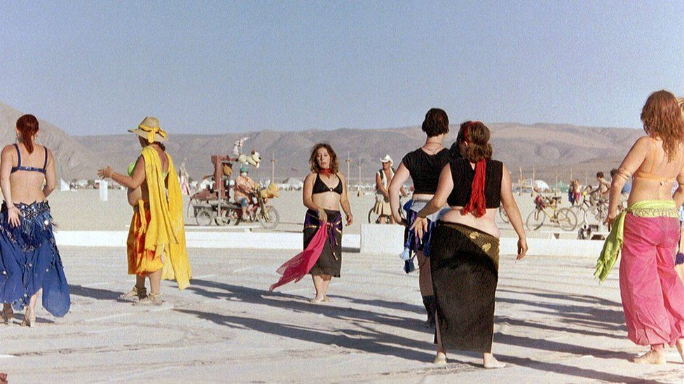 Attendees of Burning Man in 2003