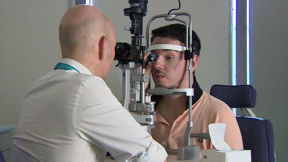 Jake Ternent eye exam